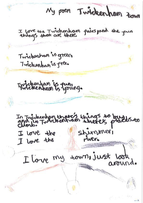 Scan of poem about Twickenham town