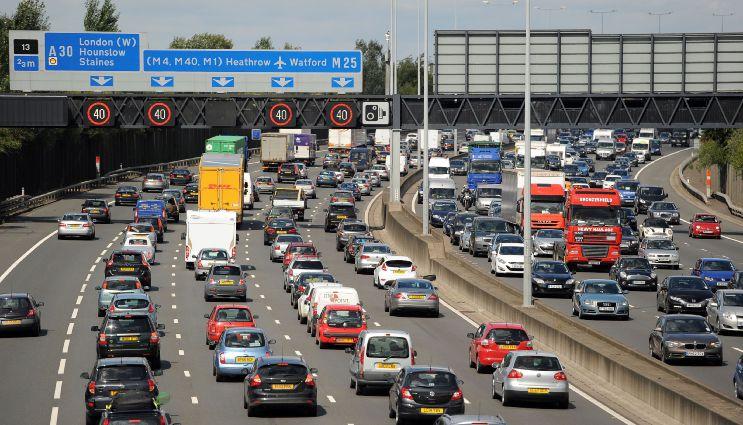 Image of cars on motorway during holiday season