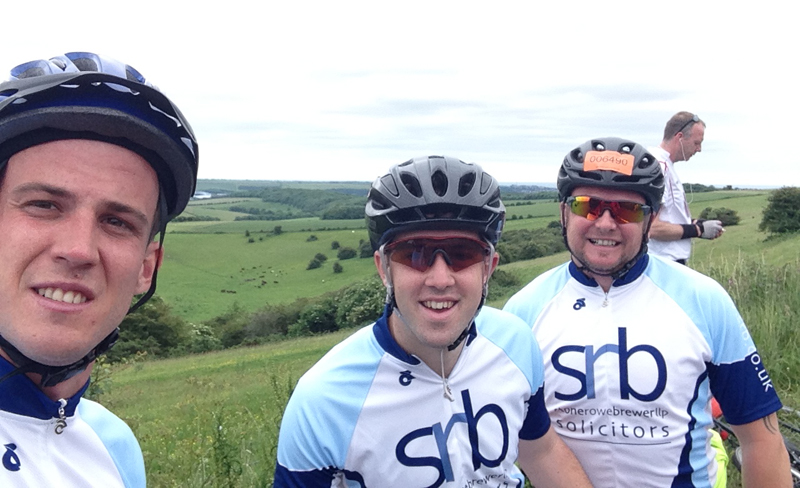 Cyclists sponsored by SRB Solicitors Twickenham