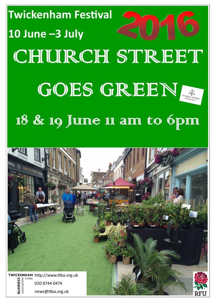 Church Street Goes Green - Poster